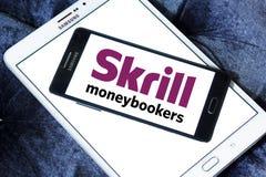 Ηλεκτρονικό λογότυπο τραπεζών Skrill Στοκ Εικόνες