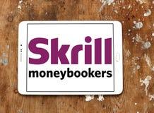 Ηλεκτρονικό λογότυπο τραπεζών Skrill Στοκ Φωτογραφία