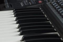 Ηλεκτρονικό πιάνο Στοκ Φωτογραφία