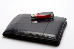 ηλεκτρονικό πορτοφόλι Στοκ εικόνες με δικαίωμα ελεύθερης χρήσης