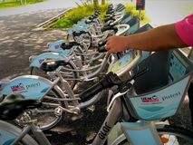 Ηλεκτρονικό ποδήλατο Στοκ φωτογραφία με δικαίωμα ελεύθερης χρήσης