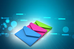 Ηλεκτρονικό ταχυδρομείο, έννοια επικοινωνίας διανυσματική απεικόνιση
