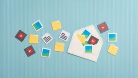 Ηλεκτρονικό ταχυδρομείο και συνδέσεις Στοκ φωτογραφία με δικαίωμα ελεύθερης χρήσης