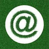 Ηλεκτρονικό ταχυδρομείο λογότυπων από τη χλόη Στοκ Εικόνες
