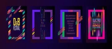 Ηλεκτρονικό φεστιβάλ μουσικής διανυσματική απεικόνιση