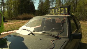 Ηλεκτρονικό χρονόμετρο απόθεμα βίντεο