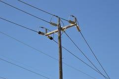 Ηλεκτροφόρα καλώδια Στοκ Φωτογραφία