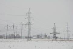 Ηλεκτροφόρα καλώδια Στοκ Εικόνες