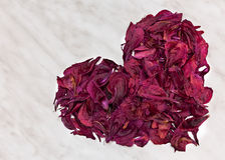 Η εκλεκτής ποιότητας μορφή καρδιών που έγινε από ξηρό σκοτεινό αυξήθηκε πέταλα λουλουδιών στοκ εικόνες με δικαίωμα ελεύθερης χρήσης