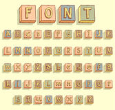 Η εκλεκτής ποιότητας ξύλινη letterpress εκτύπωση εμποδίζει τη διανυσματική απεικόνιση Στοκ Φωτογραφία
