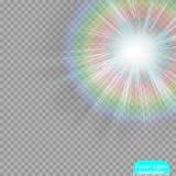 Η ελαφριά επίδραση ήλιων ` s Ακτίνες ήλιων Στοκ εικόνα με δικαίωμα ελεύθερης χρήσης