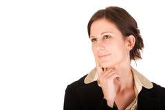 η ελκυστική επιχείρηση σκέφτηκε τη γυναίκα Στοκ Εικόνες