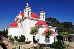 Η ελληνική Ορθόδοξη Εκκλησία των επτά αποστόλων Στοκ φωτογραφία με δικαίωμα ελεύθερης χρήσης
