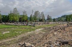 Η εμφάνιση μιας βιομηχανικής ζώνης μετά από τις φυσικές καταστροφές Στοκ Εικόνα