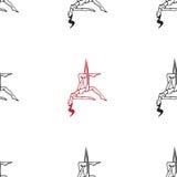 Η ενάντια στη βαρύτητα γιόγκα θέτει διανυσματική απεικόνιση