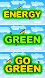 Η ενέργεια, πράσινη, πηγαίνει πράσινη Στοκ Εικόνες