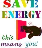 η ενέργεια σώζει Στοκ φωτογραφία με δικαίωμα ελεύθερης χρήσης