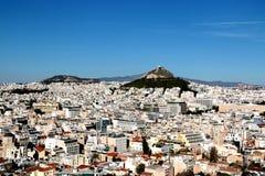 Η εναέρια άποψη της Αθήνας και τοποθετεί Lycabettus από το Hill Areopagus, Αθήνα, Ελλάδα Στοκ φωτογραφία με δικαίωμα ελεύθερης χρήσης