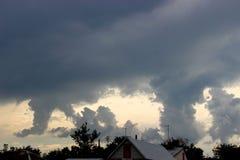 η εναέρια ανασκόπηση καλύπτει την όψη ουρανού Στοκ Φωτογραφία