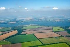 η εναέρια φωτογραφία καλλιεργήσιμου εδάφους ιδανικά χρησιμοποιεί το σας Στοκ εικόνες με δικαίωμα ελεύθερης χρήσης