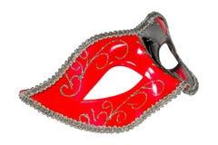 Η ενετική μάσκα καρναβαλιού διαμόρφωσε την ασυμμετρική μετωπική εικόνα Στοκ Εικόνες