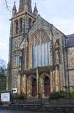 Η εντυπωσιακή Πρεσβυτερική Εκκλησία Fisherwick στο δρόμο Malone στο Μπέλφαστ Βόρεια Ιρλανδία σε ένα υγρό και δροσερό βράδυ άνοιξη Στοκ Φωτογραφία