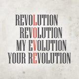 Η εξέλιξή μου, η επανάστασή σας Στοκ εικόνα με δικαίωμα ελεύθερης χρήσης