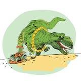 Η εξέλιξη του δεινοσαύρου τυραννοσαύρων ατόμων Στοκ φωτογραφία με δικαίωμα ελεύθερης χρήσης