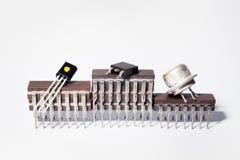 Η εξέδρα βραβείων φιαγμένη από ηλεκτρονικά τσιπ Στοκ Φωτογραφίες