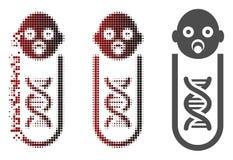 Η εξαφάνιση διέστιξε το ημίτονο εικονίδιο ανάλυσης μωρών γενετικό διανυσματική απεικόνιση
