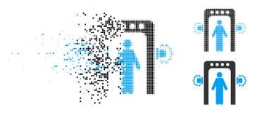 Η εξαφάνιση διέστιξε το ημίτονο εικονίδιο διαλογής επιβατών απεικόνιση αποθεμάτων