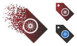 Η εξαφάνιση διέστιξε το ημίτονο εικονίδιο ετικεττών Cardano απεικόνιση αποθεμάτων
