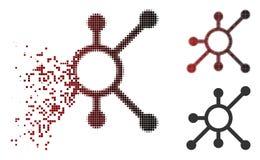 Η εξαφάνιση διέστιξε το ημίτονο εικονίδιο κόμβων δικτύων διανυσματική απεικόνιση