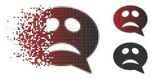 Η εξαφάνιση διέστιξε το ημίτονο εικονίδιο μηνυμάτων Smiley κρίσης ελεύθερη απεικόνιση δικαιώματος