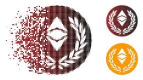 Η εξαφάνιση διέστιξε το ημίτονο εικονίδιο νομισμάτων δαφνών Ethereum κλασικό απεικόνιση αποθεμάτων