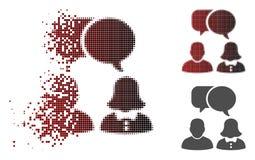 Η εξαφάνιση διέστιξε το ημίτονο εικονίδιο συνομιλίας ανθρώπων ελεύθερη απεικόνιση δικαιώματος