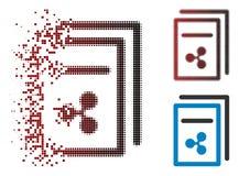 Η εξαφάνιση διέστιξε το ημίτονο εικονίδιο τιμολογίων κυματισμών ελεύθερη απεικόνιση δικαιώματος