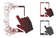 Η εξαφάνιση διέστιξε το ημίτονο εικονίδιο Smartphone αφής απεικόνιση αποθεμάτων