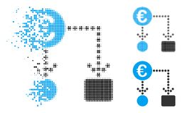 Η εξαφάνιση διέστιξε το ημίτονο ευρο- εικονίδιο διαγραμμάτων ροής ελεύθερη απεικόνιση δικαιώματος