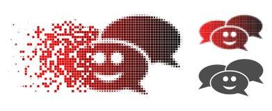 Η εξαφάνιση διέστιξε το ημίτονο ευτυχές εικονίδιο Webinar απεικόνιση αποθεμάτων