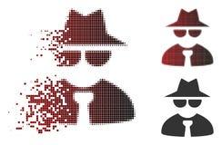 Η εξαφάνιση διέστιξε το ημίτονο κύριο εικονίδιο μαφίας απεικόνιση αποθεμάτων