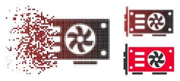 Η εξαφάνιση διέστιξε το ημίτονο τηλεοπτικό εικονίδιο καρτών γραφικής παράστασης GPU απεικόνιση αποθεμάτων