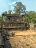 Η εξωτερική μερίδα του ναού Bayon, Siem συγκεντρώνει Στοκ φωτογραφία με δικαίωμα ελεύθερης χρήσης