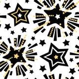 Η εορταστική τυπωμένη ύλη αστεριών, άνευ ραφής μοτίβο, εκφραστικό μελάνι τεχνών χεριών Χριστουγέννων επαναλαμβάνει το καθιερώνον  διανυσματική απεικόνιση