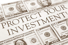 η επένδυση προστατεύει το σας Στοκ Εικόνες
