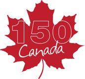 150η επέτειος ημέρας του Καναδά Στοκ Εικόνα