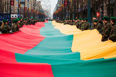 25η επέτειος της αποκατάστασης ανεξαρτησίας του στη Λιθουανία Στοκ Φωτογραφία