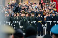 100η επέτειος της αποκατάστασης της λιθουανικής κατάστασης πολιτείας Στοκ Εικόνα