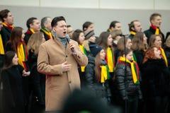 100η επέτειος της αποκατάστασης της λιθουανικής κατάστασης πολιτείας Στοκ Εικόνες