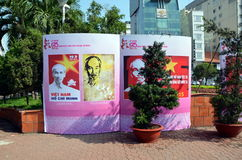 125η επέτειος της γέννησης του Ho Chi Minh Στοκ φωτογραφίες με δικαίωμα ελεύθερης χρήσης